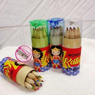 ✔️customize colour pencils for goodies box / bag  - Wonder woman