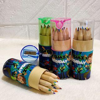 ✔️customize colour pencils for goodies box / bag  - Ben 10
