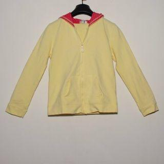 Girls' hooded jacket (yellow colour)