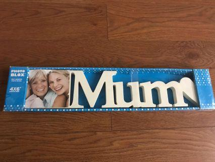 Mum wooden decoration