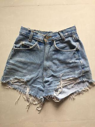 levi's ripped shorts