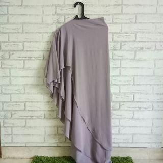 Khimar Layer Cerutti Hijab Wanita Non pad