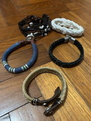 Men's bracelet wristband (whole set)