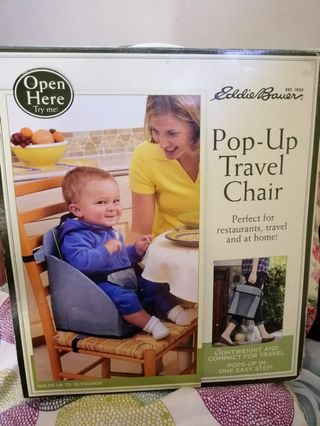 Baby Other Baby Gear Eddie Bauer Pop Up Booster Seat High Chair Travel Holds Up To 30lbs