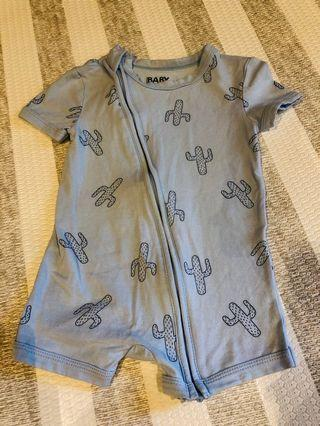 Cotton On Baby Zipper Romper 6-12months