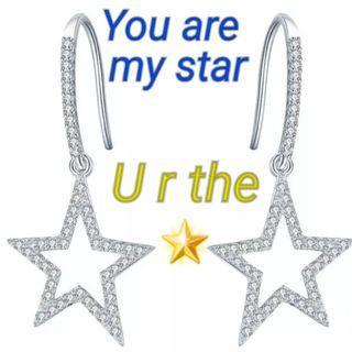"*MTO* Silver 925 純銀 你是我心目中的星星耳環 ""You are the star"" ""U r the star "" earring  #MTRtw #MTRst #MTRcwb #MTRtst #MTRssp #MTRpe #MTRtaiwai #MTRmk #MTRcentral #MTRtko #MTRkt #MTRadm"