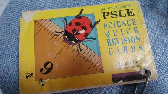 PSLE Science Quick Revision Cards