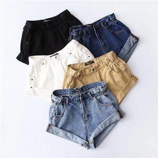 Denim Cuff Hem Shorts