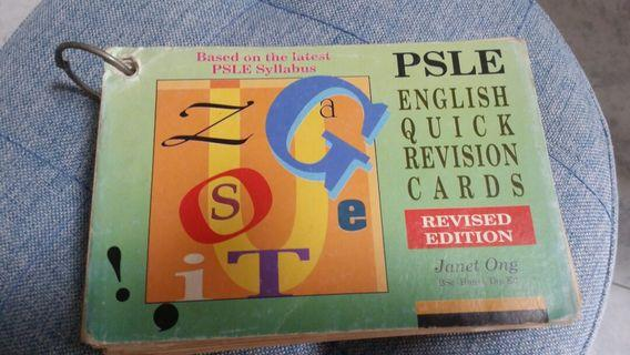 PSLE English Quick Revision Cards