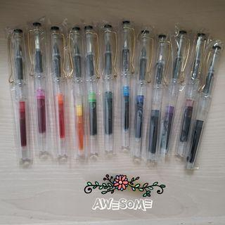 透明鋼筆 一套12支 合共HK$200