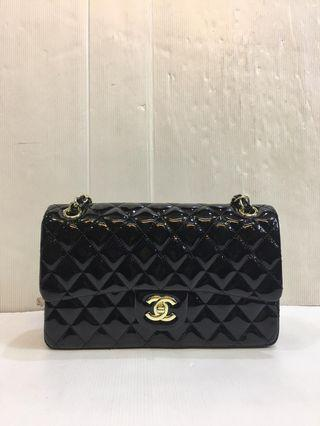 Tass Chanel clasic lambskin medium black 25cm GHW MIROR quality