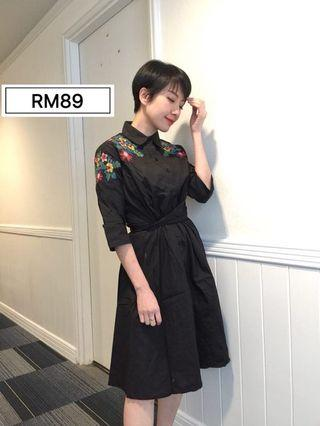 Korean Style Embroidered Dress