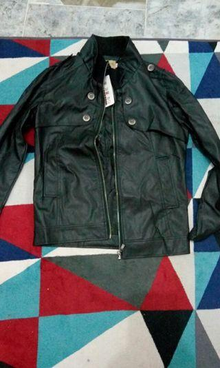 Leather Jacket Riding  Motorcycle Size M Male