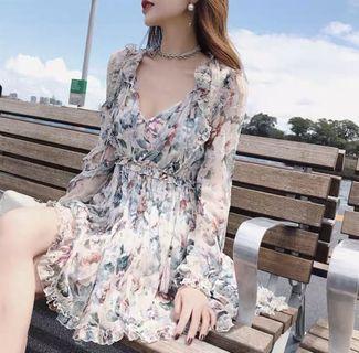 🚚 BNWT Floral Chiffon Dress
