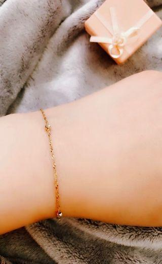 10k solid gold thin bracelet 19cm 7'1/2 inches