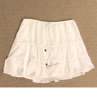Glassons White Float Tiered Skirt