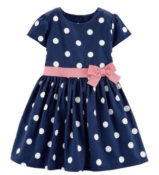 e0cf6b366 BN Carters Toddler Girl Polkadot Bow Party Dress 3T for 3 years old!