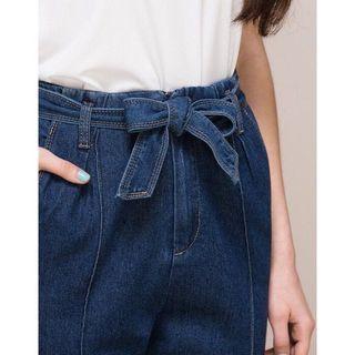 (全新) 轉售 PAZZO.綁帶牛仔褲.M