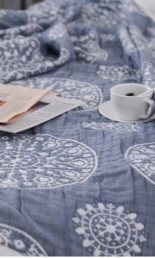 100% cotton bed spread / blanket from Japan 230cm 200cm