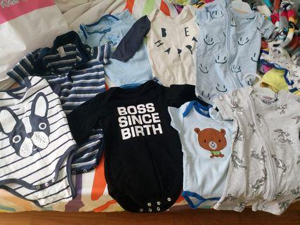 Baby boy rompers all I good condition