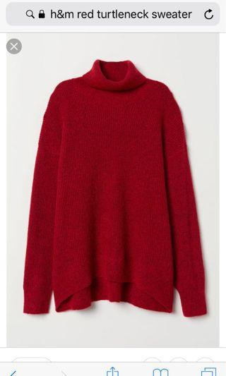 Hm red turtleneck sweater