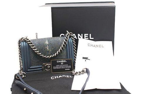 Chanel boy Bag in blue