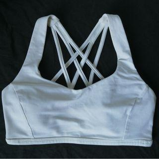 Authentic Lululemon Size 6 Tranquil Sports Bra - Pearl White