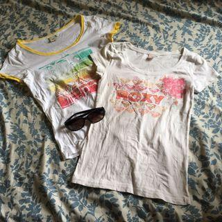 Women Muji sunglasses, 2 women Roxy graphic tee in s used condition (price reduced)