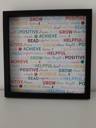 Frame with craft paper poster