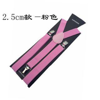 Suspender in Pink 2.5cm wide