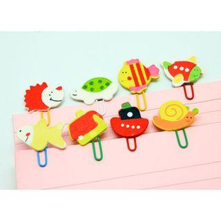 8 Piece Wooden Paper Clips
