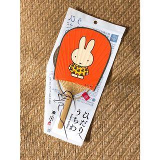 接受預訂中~日本製。 Miffy 和紙木製扇