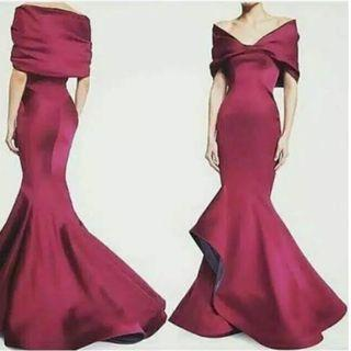 jual gaun pesta mermaid - gaun prewedding mermaid - dress pesta fishtail - dress mc singer - promnight