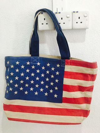 Brand New with Tag American Flag Tote Bag