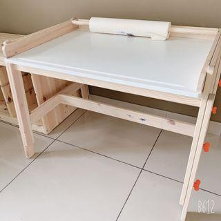 Ikea FLISAT children adjustable desk table