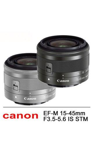 Canon M15-45&M55-200 單眼鏡頭/108年1月購入 保固一年半/兩顆購買可優惠🎉