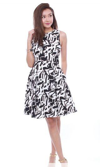 Fairebelle  LETTI ABSTRACT POCKET DRESS