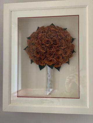 Dried Roses in Frame - Pickup Carlton NSW