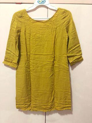 Dress yellow mango