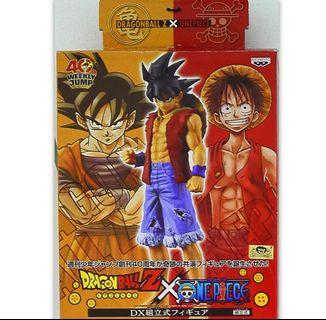 Dragonball龍珠模型:預訂/代購*少年Jump40週年Dragonball x One Piece DX Figure悟空(路飛style)