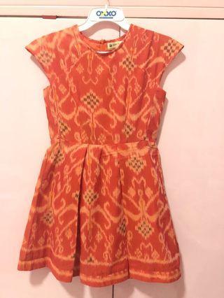 Dress batik orange