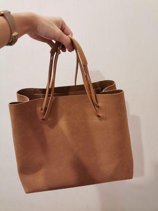 Brown Handbag two way fashion
