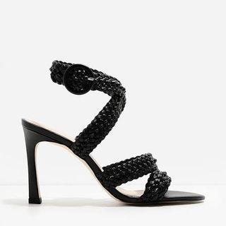 Charles & Keith Braided Strappy Heels