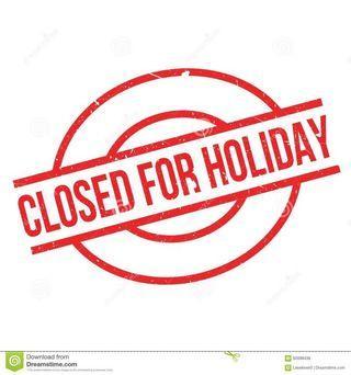 Closed until max 28 May