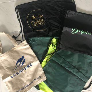 brand new drawstring bag tote bag