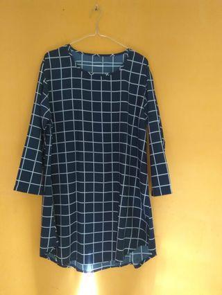 Navy blouse jumbo
