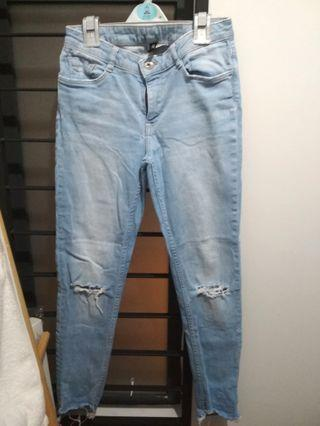 H&M Light Blue Ripped Jeans