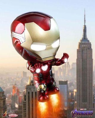發光 現貨 絕版 最後一個(小心假貨呃訂) HOTTOYS COSBABY ht Ironman Mk 85 mark 85 cosbaby the avengers iron man endgame tony