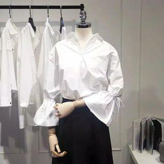 White Women Top Long Sleeve