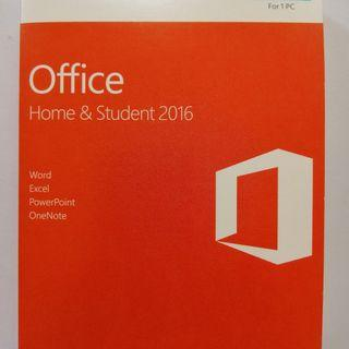 MS Office Home & Student 2016 software